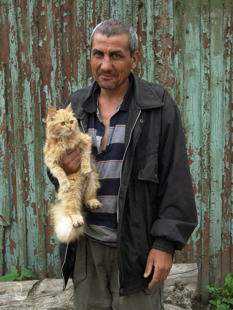 Stranger with a cat